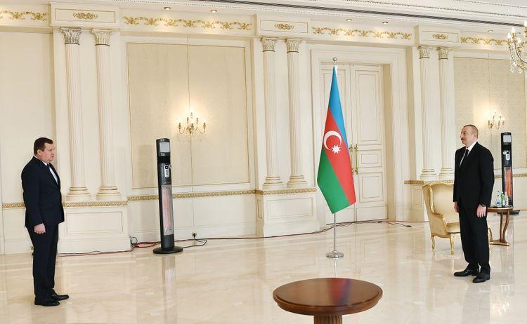 """İlham Əliyev Belarus səfirini qəbul etdi - <b style=""""color:red"""">Yenilənib</b>"""
