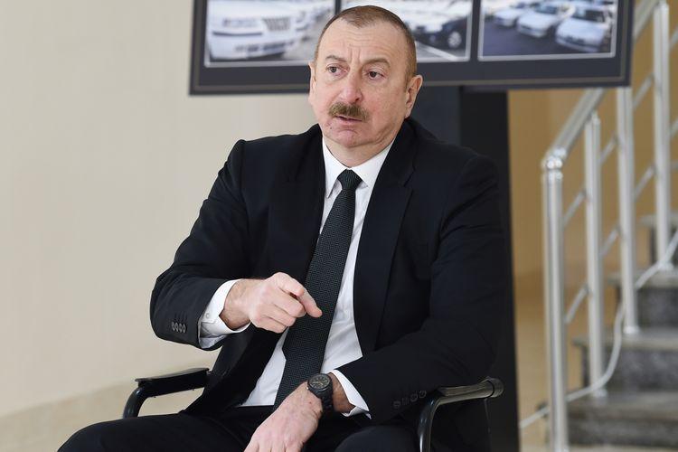 """İlham Əliyev: """"Qələbəni təkcə Ermənistan üzərində qazanmamışıq""""<b style=""""color:red""""></b>"""