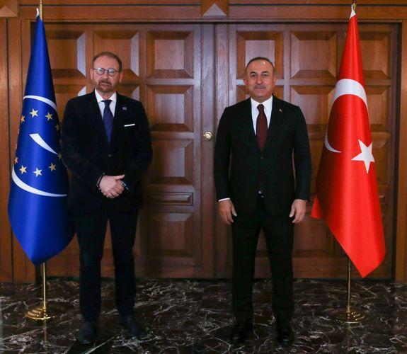 """Mövlud Çavuşoğlu AŞPA Prezidenti ilə görüşüb<b style=""""color:red""""></b>"""