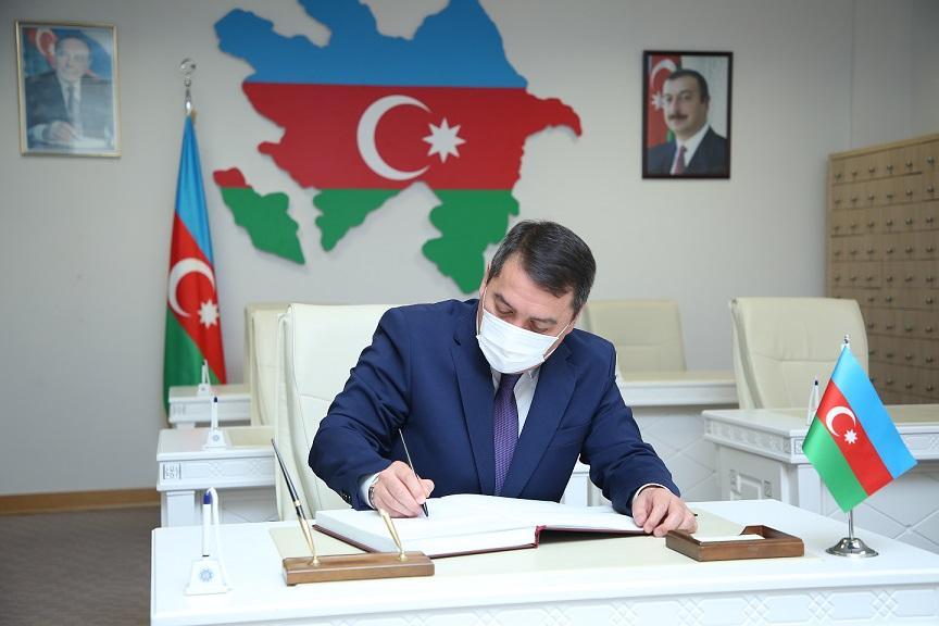 """Qazaxıstan səfiri AMEA Elmi Kitabxanasında olub<b style=""""color:red""""></b>"""