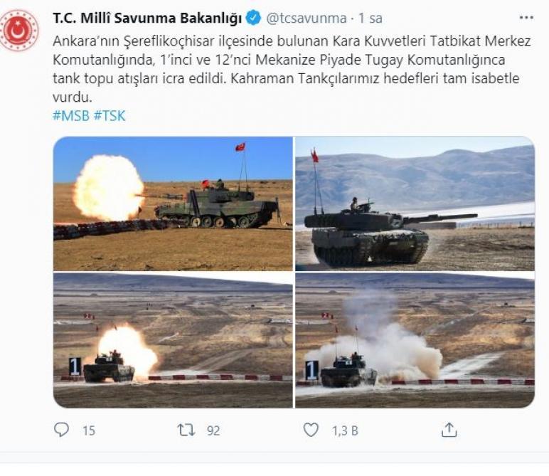 """Türkiyə Ordusunun Ankarada təlimləri keçirilib<b style=""""color:red""""></b>"""