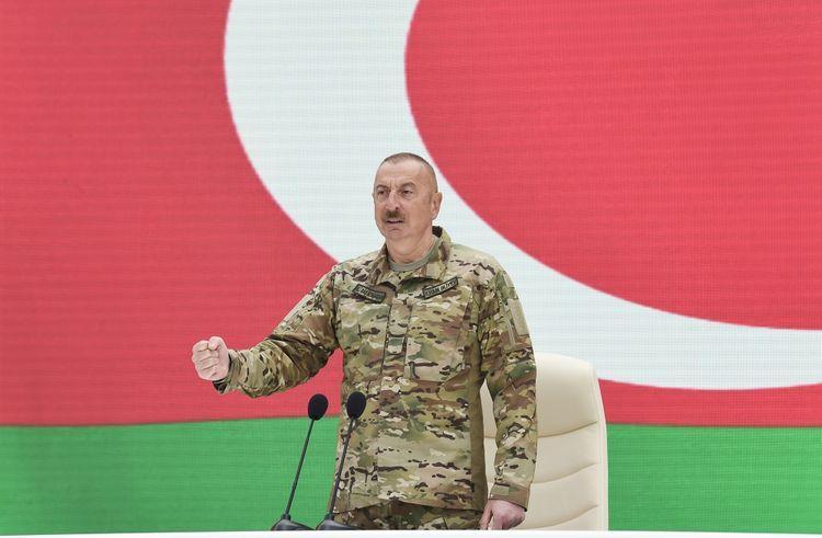 """Dəmir yumruq yerindədir"""" - İlham Əliyev"""
