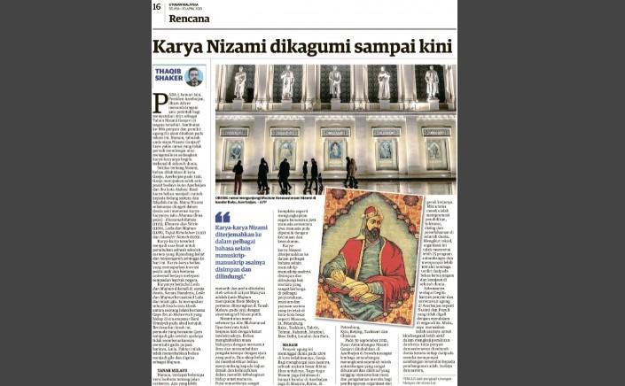 """Nizami Gəncəvi fenomeni Malayziya mətbuatında<b style=""""color:red""""></b>"""