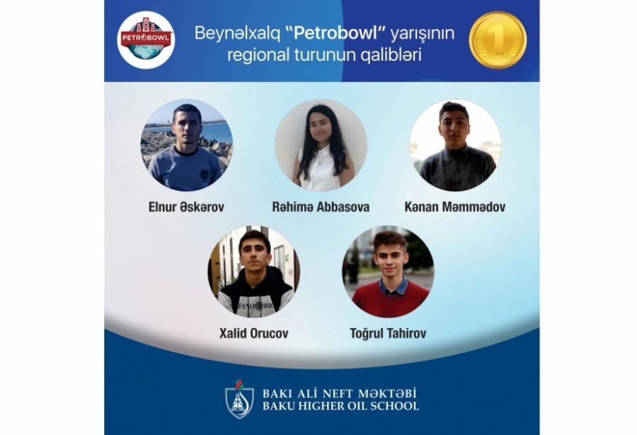 """Bakı Ali Neft Məktəbi regional """"Petrobowl"""" yarışının qalibi olub<b style=""""color:red""""></b>"""