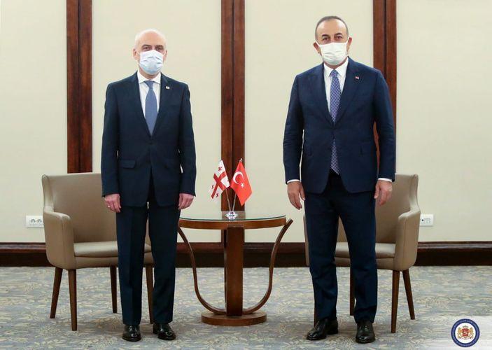 """Türkiyə və Gürcüstanın XİN başçıları görüşüb<b style=""""color:red""""></b>"""
