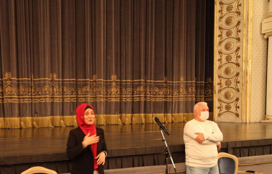 """""""İnklüziv teatr"""" layihəsinin iştirakçıları ilə ilk görüş <b style=""""color:red""""></b>"""