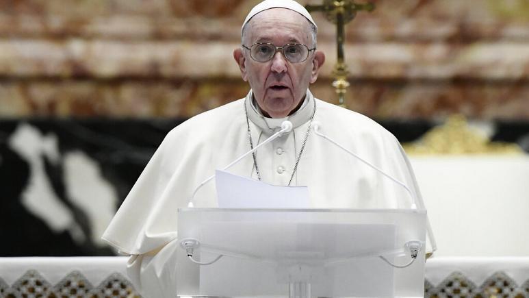 """Papa Fransisk: """"Baş verənlər insanlıq üçün utancvericidir""""<b style=""""color:red""""></b>"""