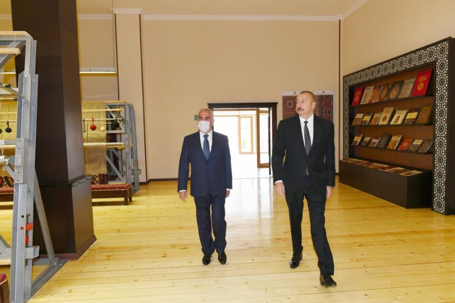 """İlham Əliyev """"Azərxalça"""" ASC-nin Naxçıvan filialının açılışında -<b style=""""color:red""""> Yenilənib</b>"""