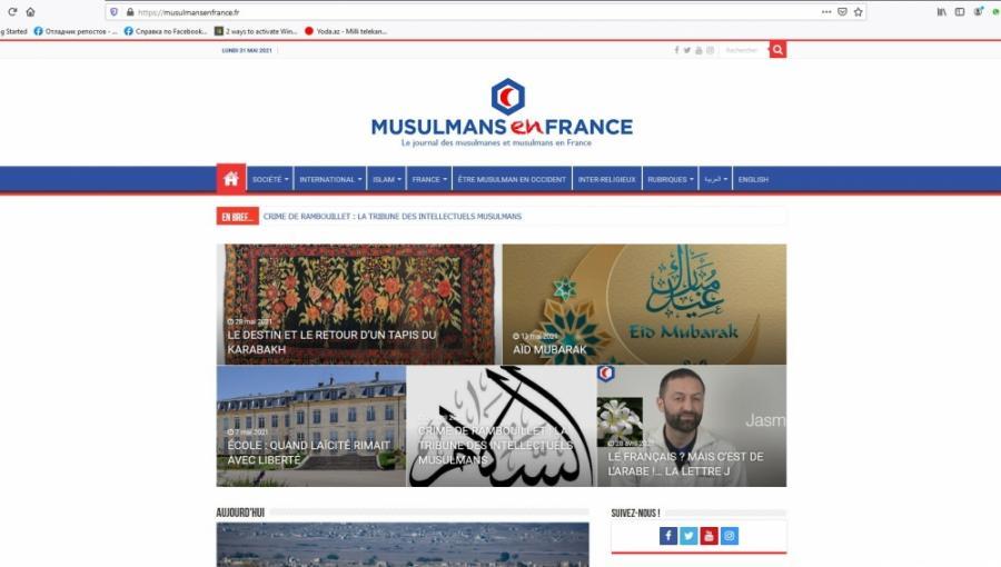 """Fransa mediasında Qarabağ xalçası haqqında məqalə yayımlanıb<b style=""""color:red""""></b>"""
