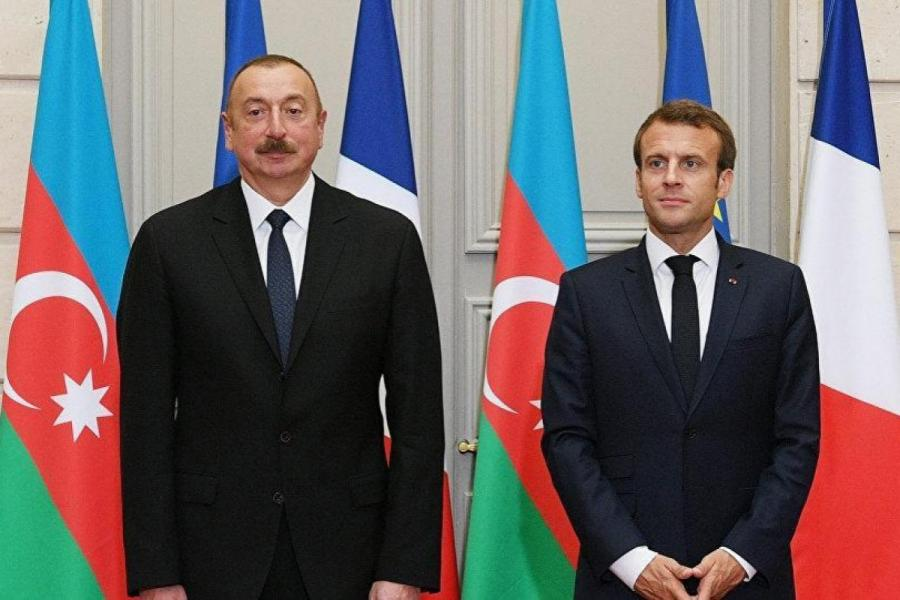 "Makron Prezident İlham Əliyevi təbrik etdi<b style=""color:red""></b>"