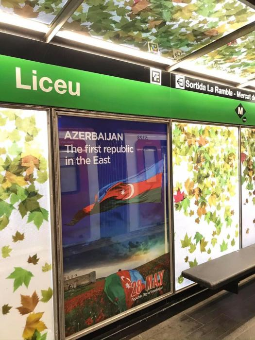 """Barselonada Azərbaycanla bağlı bilbordlar quraşdırılıb<b style=""""color:red""""></b>"""