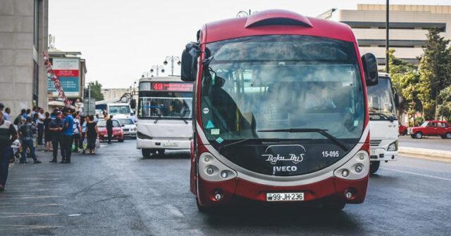 """Bazar günü avtobusla sərnişindaşıma dayandırılır<b style=""""color:red""""></b>"""