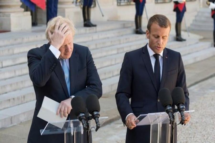 """G7 zirvəsində Fransa prezidenti ilə Britaniyanın baş naziri arasında mübahisə yaranıb<b style=""""color:red""""></b>"""