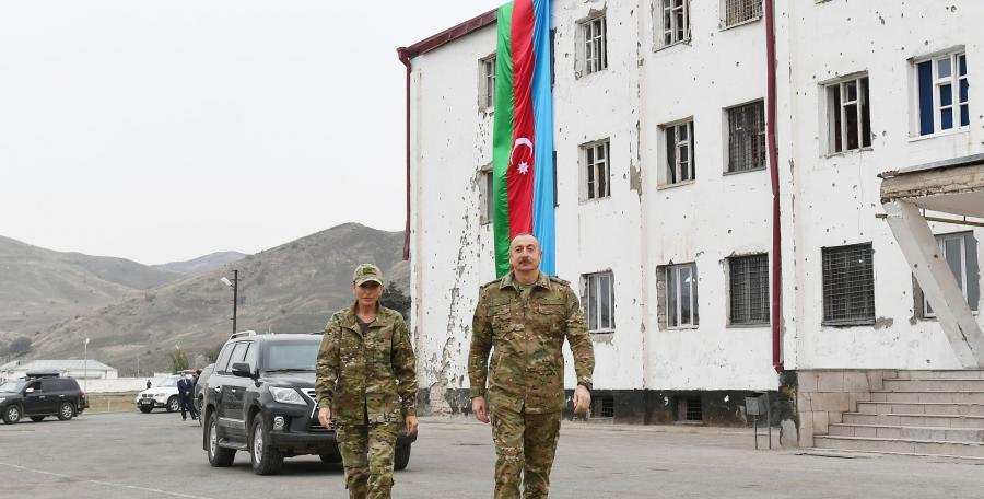 """Prezident və birinci xanım Füzuliyə səfər ediblər <b style=""""color:red""""></b>"""