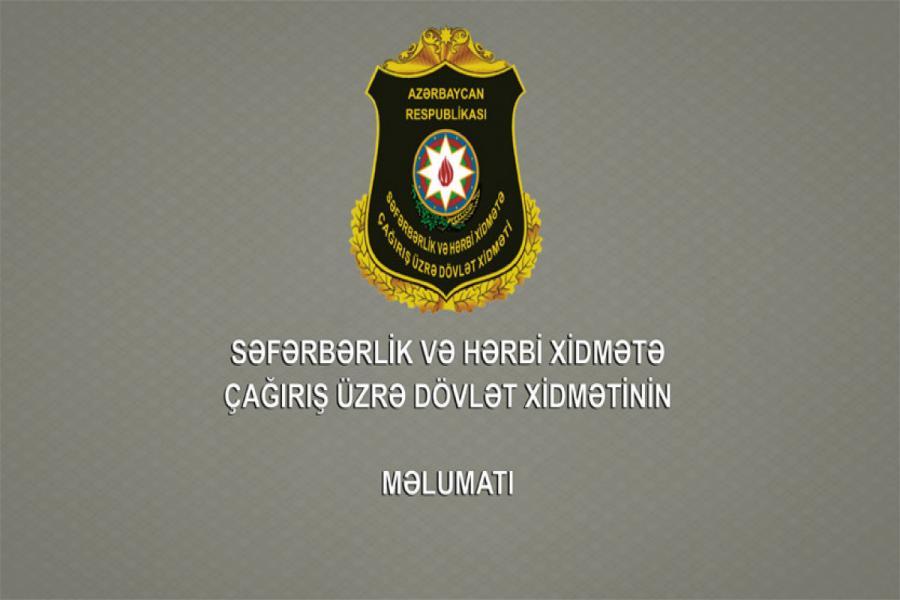 """Çağırış üzrə Dövlət Xidməti çağırışçılara müraciət edib<b style=""""color:red""""></b>"""