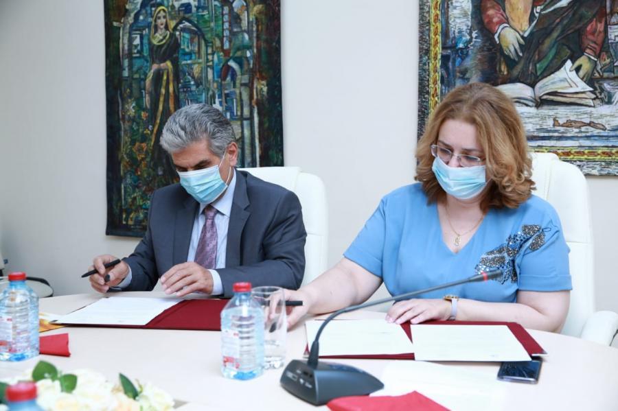 """ADPU və ADMİU rektorları əməkdaşlıq haqqında müqavilə imzalayıblar <b style=""""color:red""""></b>"""