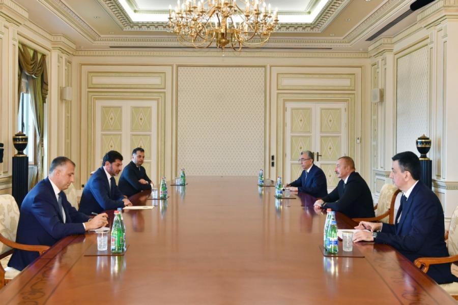 """Prezident İlham Əliyev Tbilisi merini qəbul edib<b style=""""color:red""""></b>"""