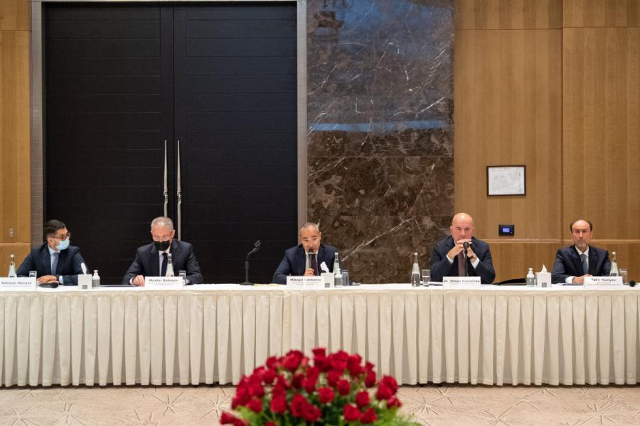 Azərbaycandakı bankların bərpa-quruculuq işlərində rolu müzakirə olunub - Foto