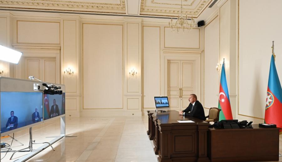 """Prezident İlham Əliyev Cəlilabad və Şəmkirin yeni icra başçılarını videoformatda qəbul edib<b style=""""color:red""""></b>"""
