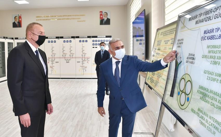 """Prezident """"Buzovna-1"""" yarımstansiyasının açılışında iştirak edib - Foto"""