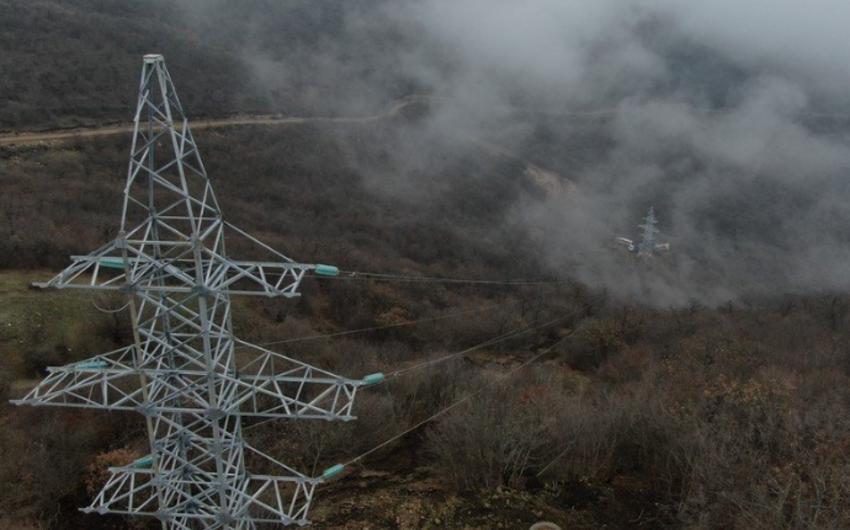 Azad edilmiş ərazilərə çəkilmiş elektrik xətləri ilə internet də ötürüləcək