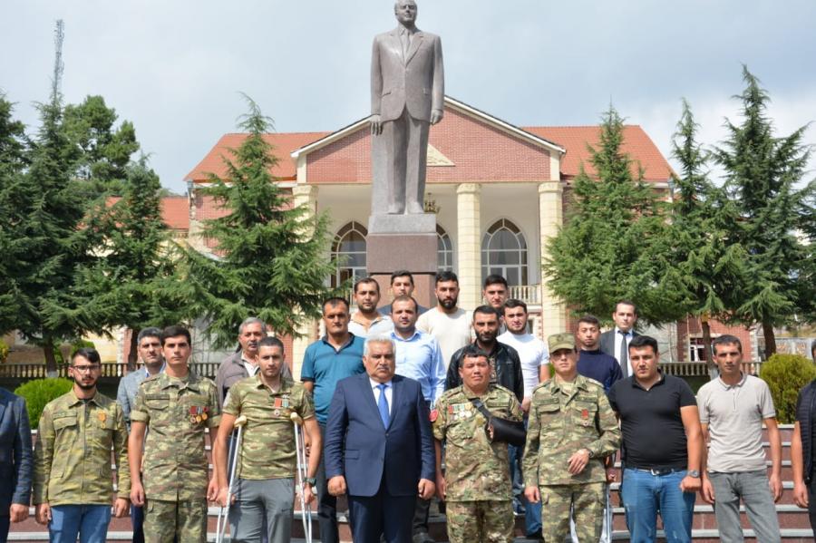 Daşkəsən Rayon İH başçısı Əhəd Abıyev Vətən müharibəsi iştirakçıları ilə görüşüb