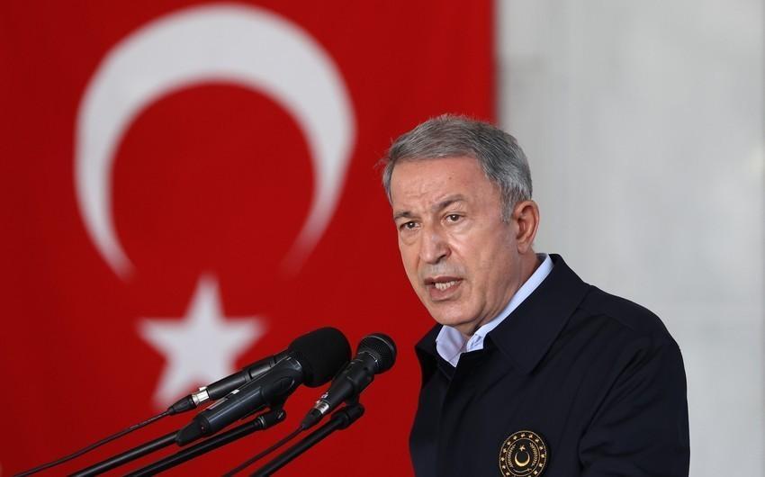 """""""Azərbaycanla hərbi təlimlər fasiləsiz olaraq davam edir"""" - Hulusi Akar"""