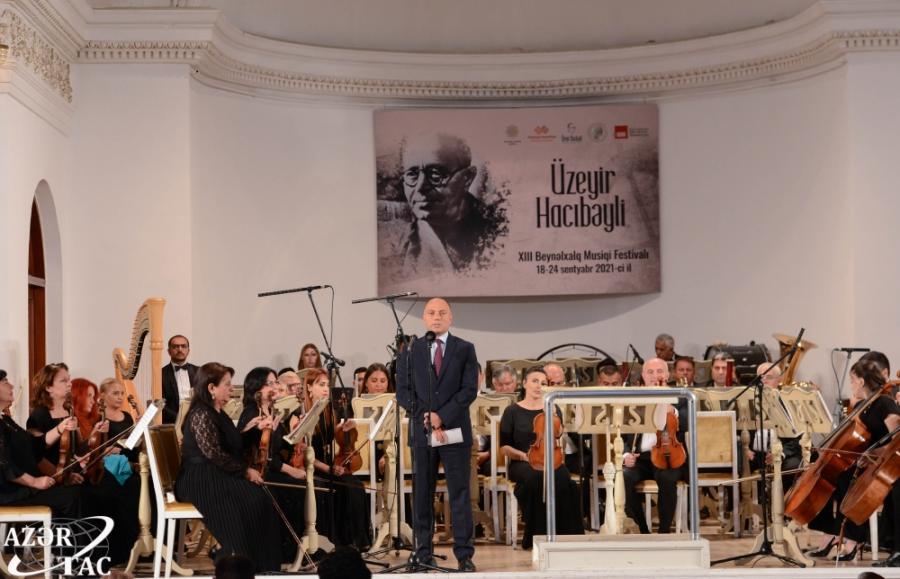 Üzeyir Hacıbəyli XIII Beynəlxalq Musiqi Festivalının açılış mərasimi olub