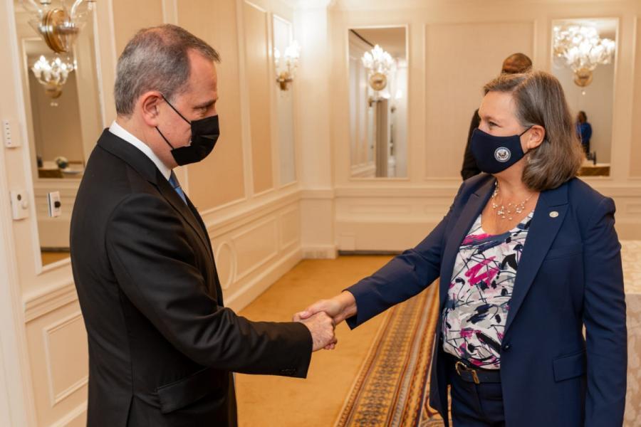 Ceyhun Bayramov Viktoriya Nuland ilə görüşüb