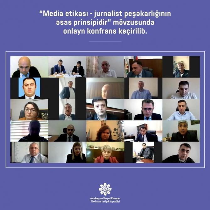 """""""Media etikası jurnalist peşəkarlığının əsas prinsipidir"""" mövzusunda konfrans keçirilib"""