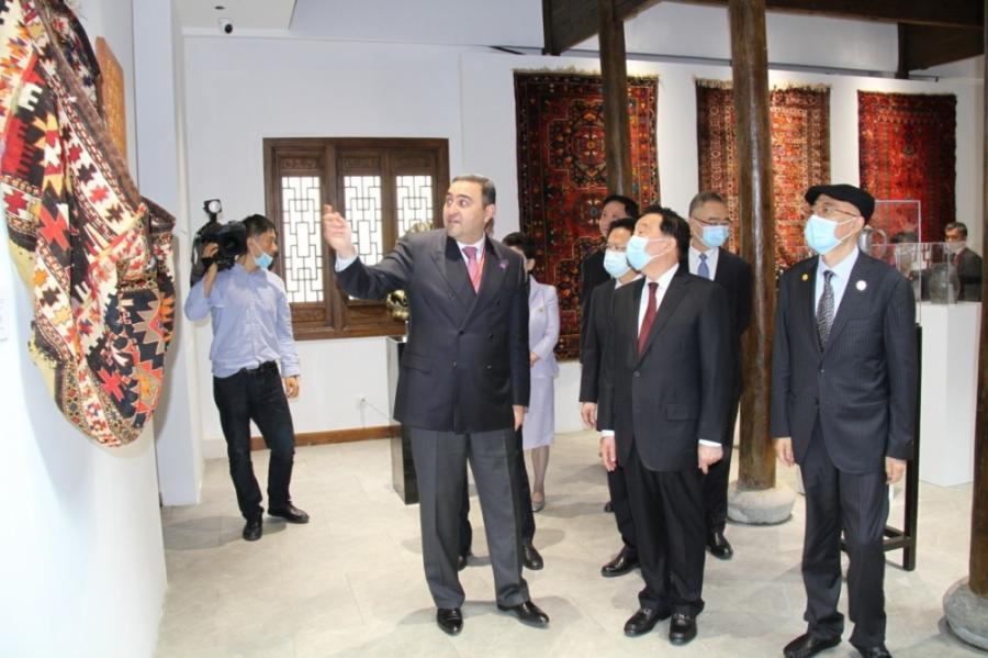 """Çinin """"Qədim məskənlər"""" parkında Azərbaycan pavilyonu"""