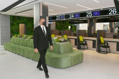 İlham Əliyev 4 saylı DOST mərkəzinin açılışında - Yenilənib