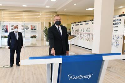 """İlham Əliyev """"Binəqədi"""" yarımstansiyasının açılışını edib"""