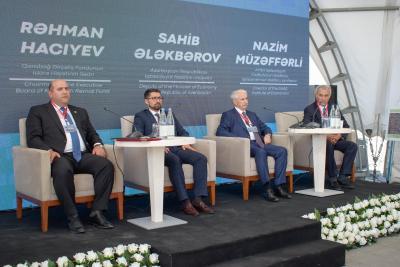Dövlət Agentliyinin sədr müavini Ağdamda təqdimatla çıxış edib - Foto