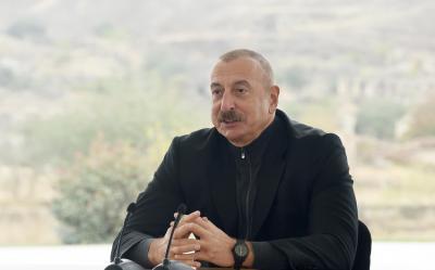 """""""Biz Füzuli şəhərini və rayonun kəndlərini bərpa edəcəyik"""" - İlham Əliyev"""