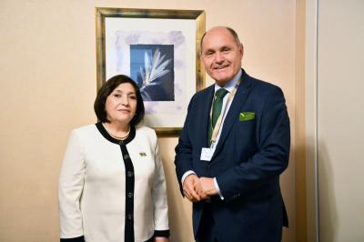 Sahibə Qafarova Avstriya Parlamenti Milli Şurasının sədri ilə görüşüb